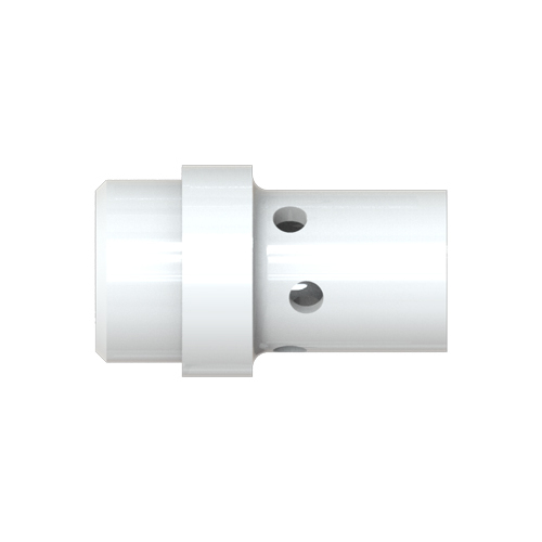 Gas Diffuser Binzel - 400A - White Ceramic - 19mm seat x 35mm long (12mm Bore)