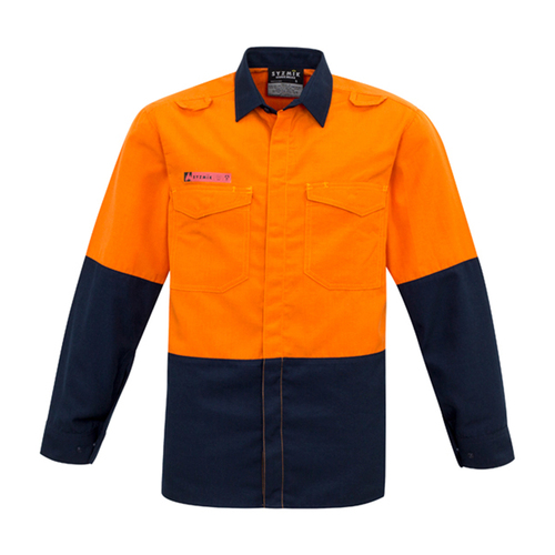 ZW138 SYZMIK Mens Hi Vis Spliced Shirt